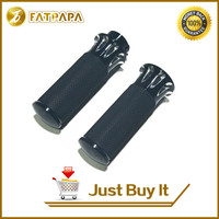 Aluminium Motorcycle Handle Black And Cast Chrome Handbar Rubber Hand Grips Fit For Harley Handle