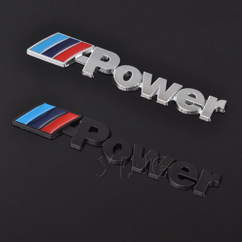 Duoles 2pcs Metal //////M Emblem Badge Sticker Motorsport Power for BMW M3 M5 X1 X3 X5 X6 E36 E39 E46 E30 E60 E92 Series metal 3D stereo labeling Silver