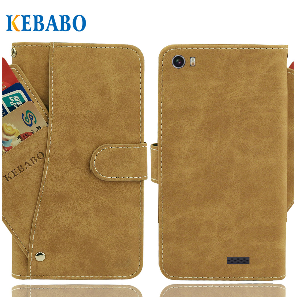 "Vintage Leather Wallet Jinga Optim 4G Case 5"" Flip Luxury 3 Front Card Slots Cover Magnet Stand Phone Protective Bags"