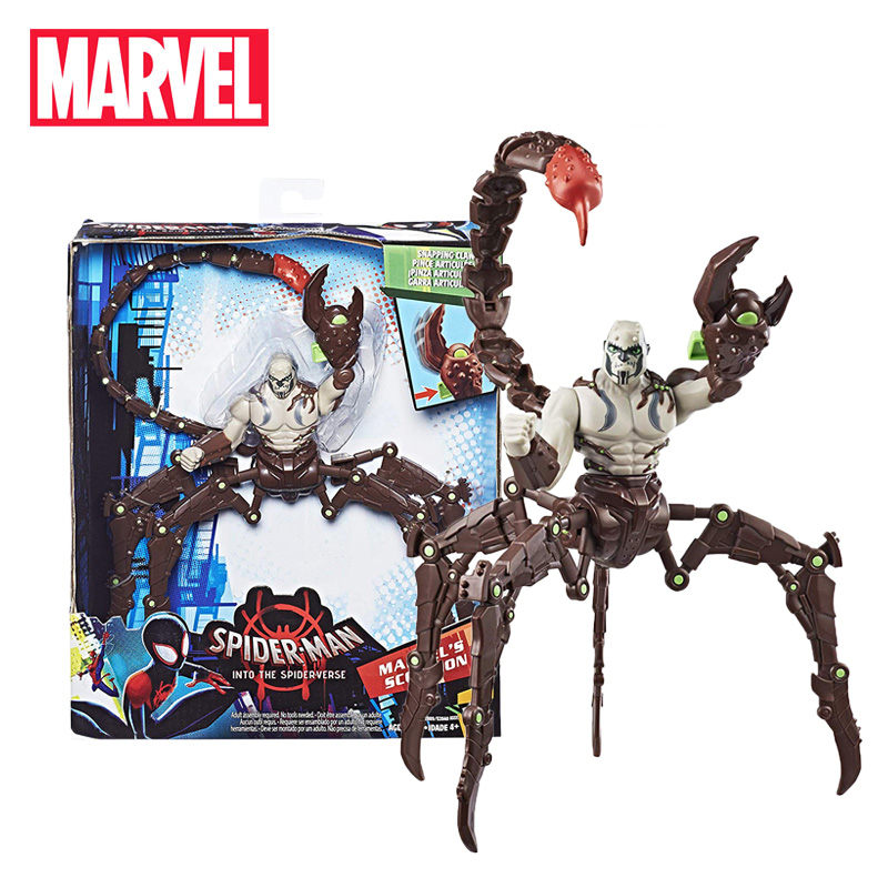 20-25cm Marvel Toys Spider-Man: Into The Spider-Verse Marvel's Scorpion Action Figure Super Hero SP//Dr & Peni Parker Figure Toy