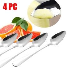 4 шт. Толстая ложка из нержавеющей стали грейпфрут десертная ложка зубчатый край кухонные принадлежности Инструменты