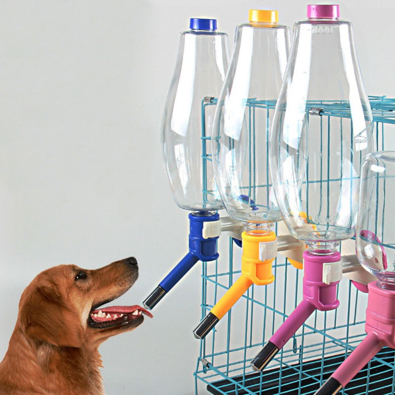 500/1000ML Pet Feeder Automatic Feeder Water Drinking Feeding Bowls For Puppy Dog Cat Pet Cage Hanging Bowl