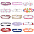 15 Styles Elegant Bridal Lace Choker Necklace Adjustable Torques Necklace Lolita Girls Women Wedding Jewelry