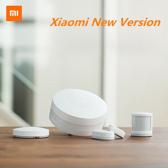 imágenes para 2017 Más Nuevo Original Xiaomi Smart Kit Home Gateway Inalámbrico Sensor de Puerta y Ventana Del Sensor Del Cuerpo Humano Interruptor Automático Inteligente Conjuntos