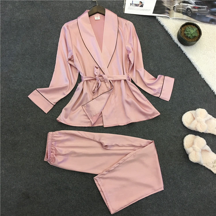 Voplidia Sleepwear Pajamas Bathrobe Lace Sexy Summer Women Nightgown-Set New VOP006 Feminino