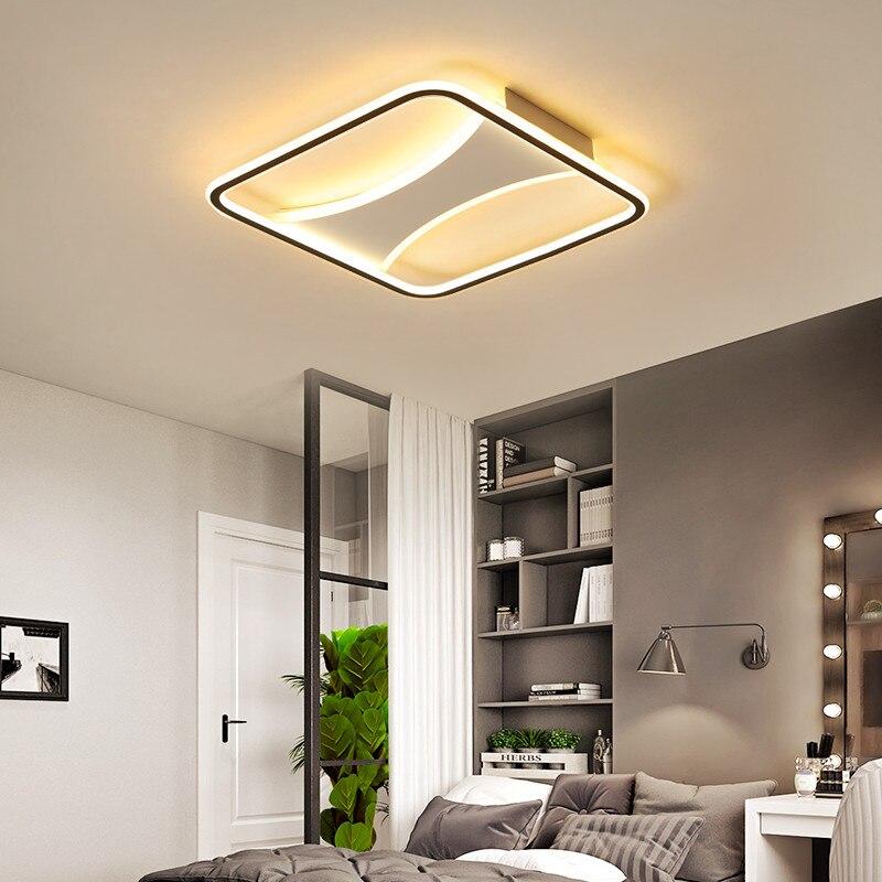 Éclairage de chambre à coucher à la maison japonaise Dimmable nouveauté monté en Surface anneau Led minimaliste moderne rond plafonnier lampe de chambre cercle