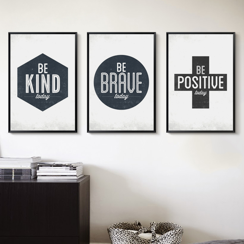 07G Be Good Today Retro English Phrases A4 A3 Canvas Painting Art Print Poster Picture Office Living Room Home Decoration Murals