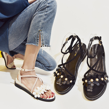 Cremulen New Women Sandals Fashion Summer Gladiator Shoes Bohemian Beach Casual Flat Leisure
