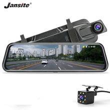 Jansite 10 Dash cam Touch Screen Stream Rear View Mirror car camera DVR Cycle Recording Night Vision Dual Lens Motion Detection