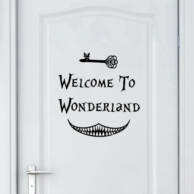 Alice In Wonderland Wall Sticker Art Decor Welcome To Alice In Wonderland  Wall Decals Kids Room