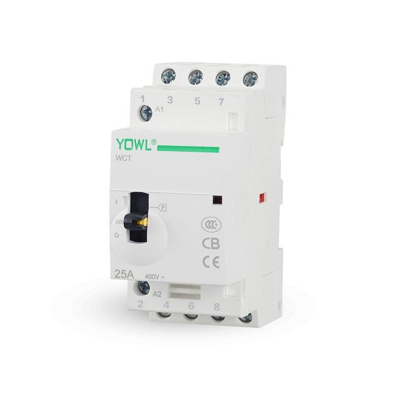 4 P 25A 4NO 4NC 2NO + 2NC 24 V/110 V/230 V 50/60 HZ manuel Interrupteur Din Rail Ménage AC Contacteur