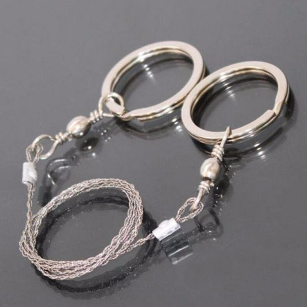 Emergency Survival Saw Stainless Steel Wire Saw Outdoor Portable Mini Chain Saw Camping Hiking Pocket Portable Ring Saw Rope