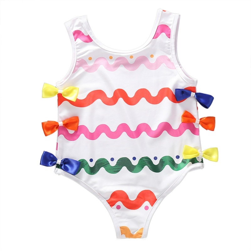 Summer Girls Swimwear Print Beach Baby Girl Clothes Kids Children Swimming Trunks Girls Bathing Set Baby Girl Swimwear