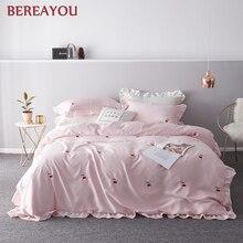 Luxury Bedding Sets Ice Silk Red Wedding Bed Linen Home Textile 4pcs Set Duvet Cover Queen King Size Soft jogo de cama