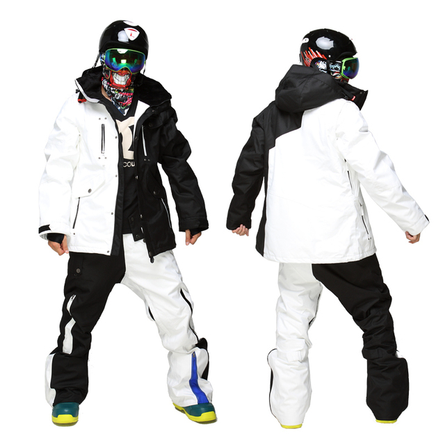 Cheap DHL Free Shipping -30 Degrees Men Skiing Suits Winter Thermal Snowboard Jackets Thicken Pants Breathable Snowboard Mountain Sets