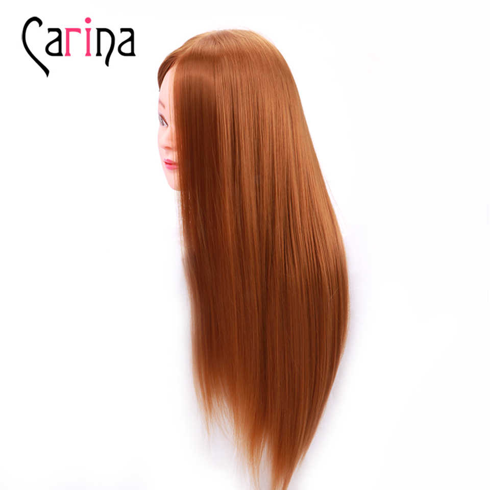 Natural Animal Fiber Hair Mannequin Head Dummy Mannequin Hairdresser Mannequin Head Professional Styling Head Wig Head