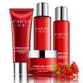 Conjunto de cuidados da pele essência de romã creme + limpador Facial loção Toner 4 pçs/set hidratante clareamento diminuir os poros