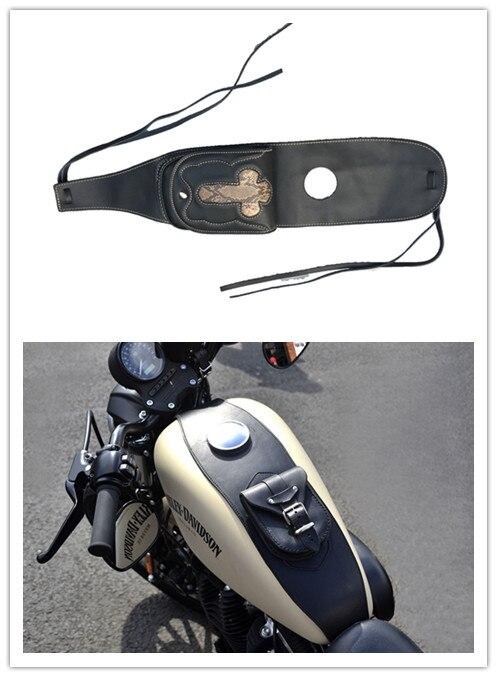 Pannello di copertura del tappo del serbatoio del carburante in pelle PU for moto con custodia Borsa del serbatoio del carburante
