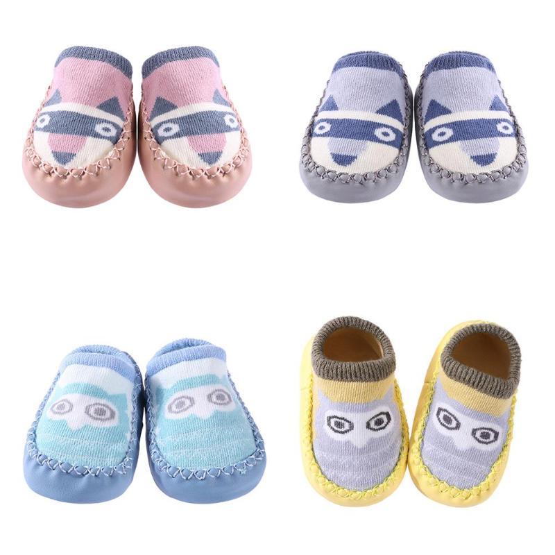 0-3y Herbst/winter Baby Schuhe Socken Kinder Infant Cartoon Socken Baby Geschenk Kinder Indoor Boden Socken Leder Sohle Nicht -slip Socken Bequemes GefüHl