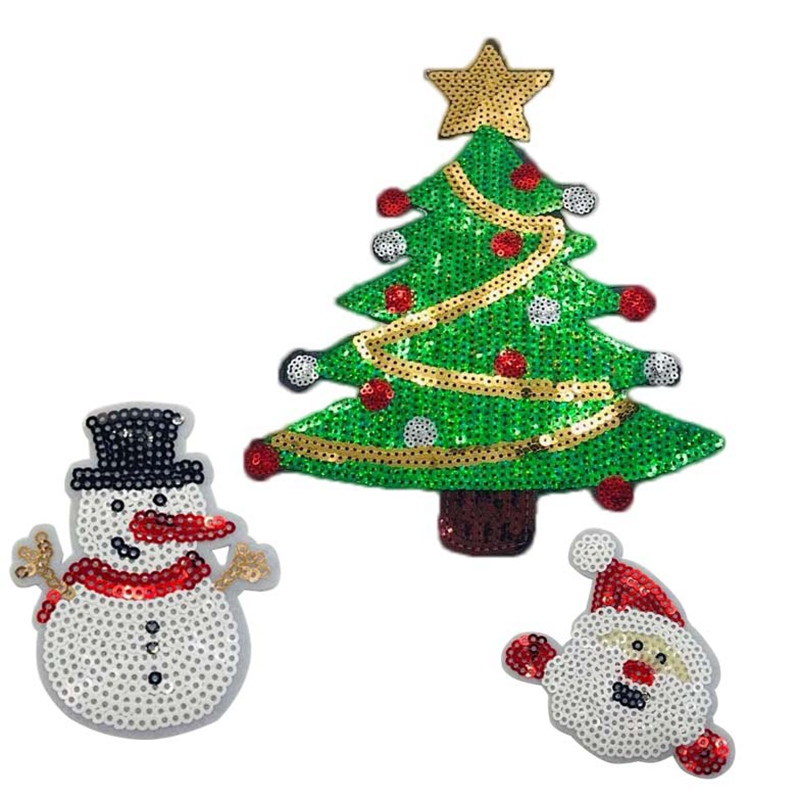 Christmas Tree Patch: For Clothing Bag Transfer Iron On Patches Patch Sequins