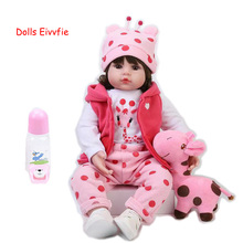Reborn Baby Doll Bebe Birthday-Gift Lifelike 19inch Children 48cm for And Toys Wholesale