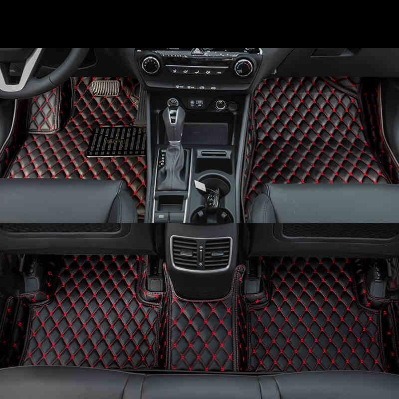 Lsrtw2017 fibre de cuir intérieur de voiture tapis de sol pour hyundai tucson 2016 2017 2018 2019 tapis de coffre