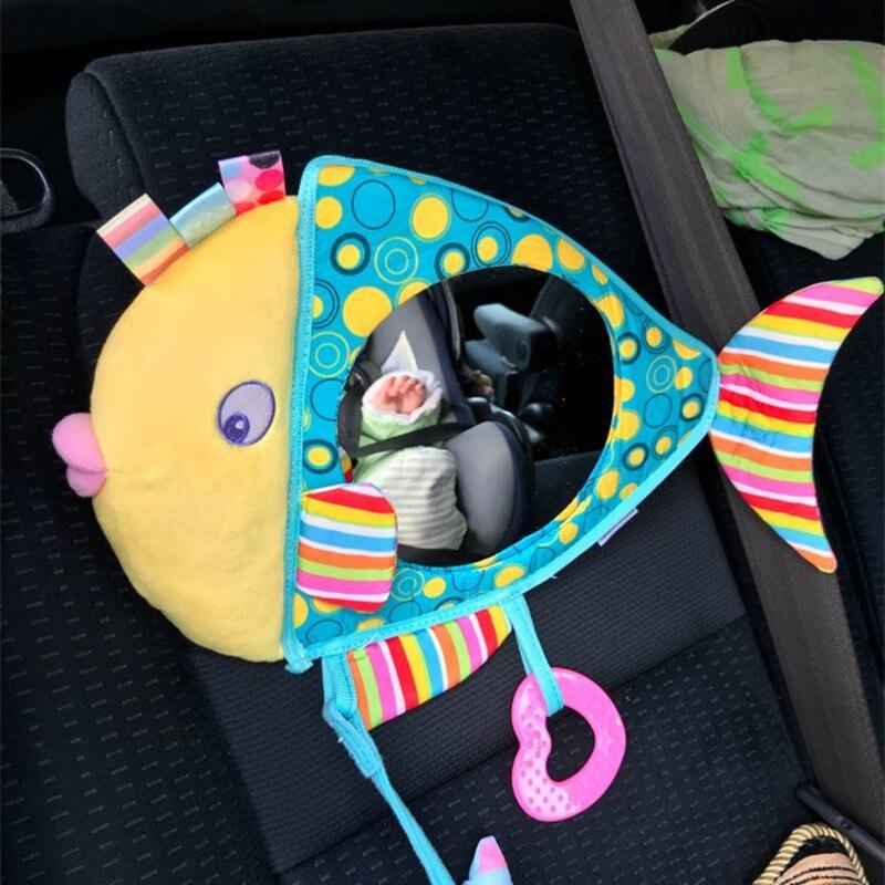 Hot Baby fish mirror plush toy Stuffed baby rattles Toddler Car Seat Infant Stroller Han ...