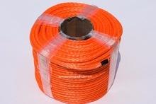 Corde de treuil synthétique Orange de 10mm * 100m, câble de treuil, corde hors route, ligne de treuil datv