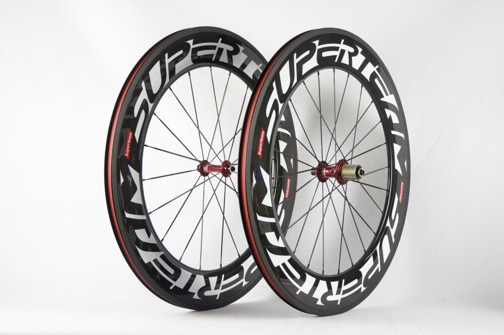Superteam 88mm carbon clincher wheelset 700C Road bike wheels