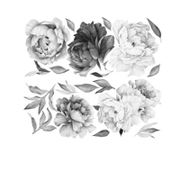 Floral wall art Peony Wallpaper nordic style kids decoration wall stickers home decor living room decoration accessories baby