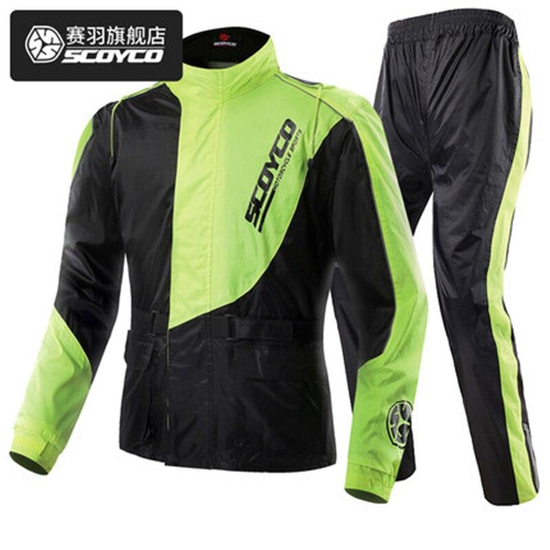 цены на Scoyco RC01 Men's Waterproof Motorcycle Jacket Pants Reflective Raincoat Sets Motocross Auto Racing Outdoor Sportswear Rain Gear в интернет-магазинах