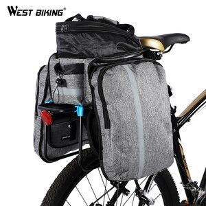 Image 2 - WEST BIKING Bicycle Bags Large Capacity Waterproof Cycling Bag Mountain Bike Saddle Rack Trunk Bags Luggage Carrier Bike Bag