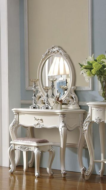 Dressing table set con chair & specchio per camera da letto set da ...