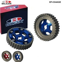 Blox 2pcs Slide Adjustable Cam Gear Pulley Cam Pulley Set For Toyota All Models 84 89 4AGE Inlet and Exhaust EP CG4AGE