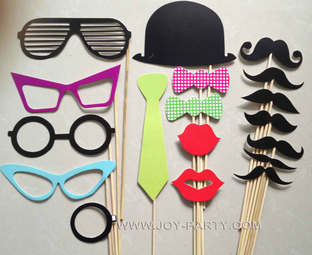 free shipping 18pcs different styles photo booth props mustache