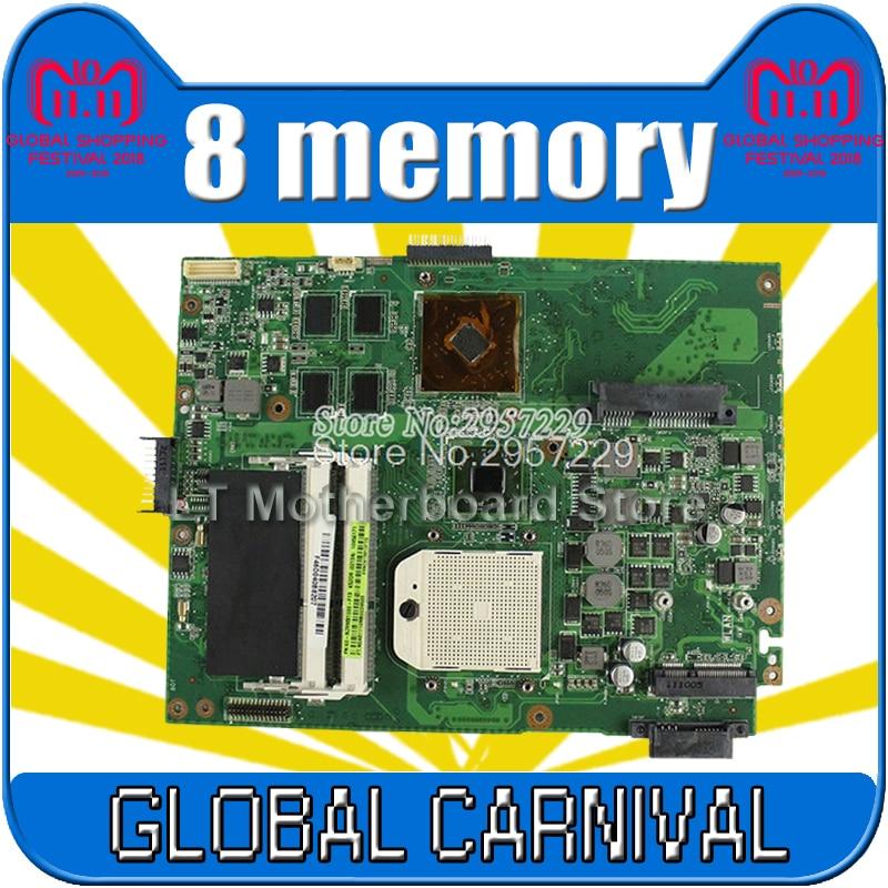 K52DR Motherboard HD5470 8 memory For ASUS A52DE K52DE A52DR K52D Laptop motherboard K52DR Mainboard K52DR Motherboard test Ok for asus k52jt k52dr laptop motherboard 60 n1wmb1100 rev 2 3 8 video memory non integrated graphics card 100
