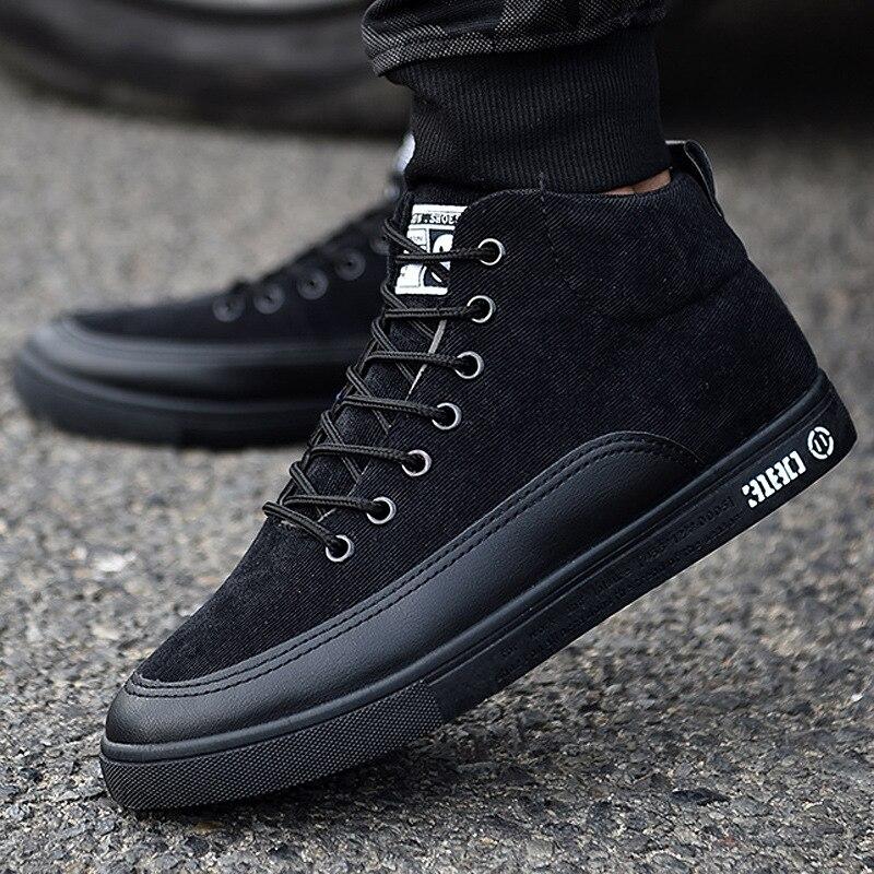 l'hiver, les hommes de chaussures bottes mode haut noir étudiants martin les étudiants noir 12eb46