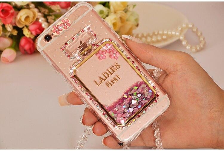 Dower Me мода diamond вызова вспышки света Жидкий блеск песок флакон духов телефон чехол для iphone 8 7 6 6 S плюс 5 5S