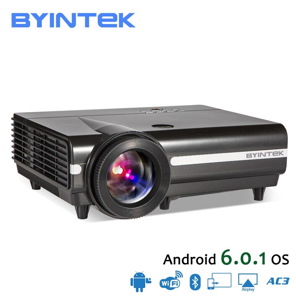 BYINTEK Luna BT96Plus Android Wifi Smart Video LED Proyector de cine en casa Full HD 1080 p apoyo 4 K vídeo en línea
