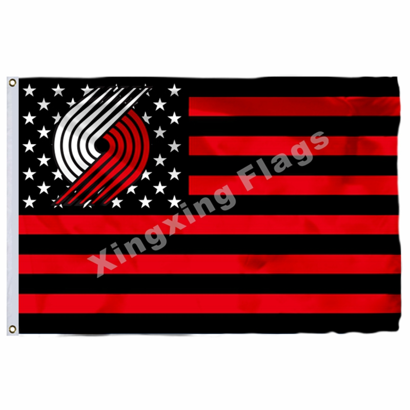 Портленд Трэйлблейзерс нации 3ft X 5ft полиэстер NBA1 Портленд Трэйлблейзерс баннер летающие Размеры № 4 144*96 см