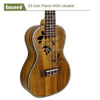 23 inç KOA Konser Ukulele Hollow En El Sanatları mini akustik Gitar çocuk Guitarra Ukelele hawaii enstrüman aracı