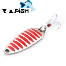 JUYANG brand Fishing lure spoon 2g 5g 7.5g 10g 15g 20g Gold/Silver fishing spoon hard lures metal lure