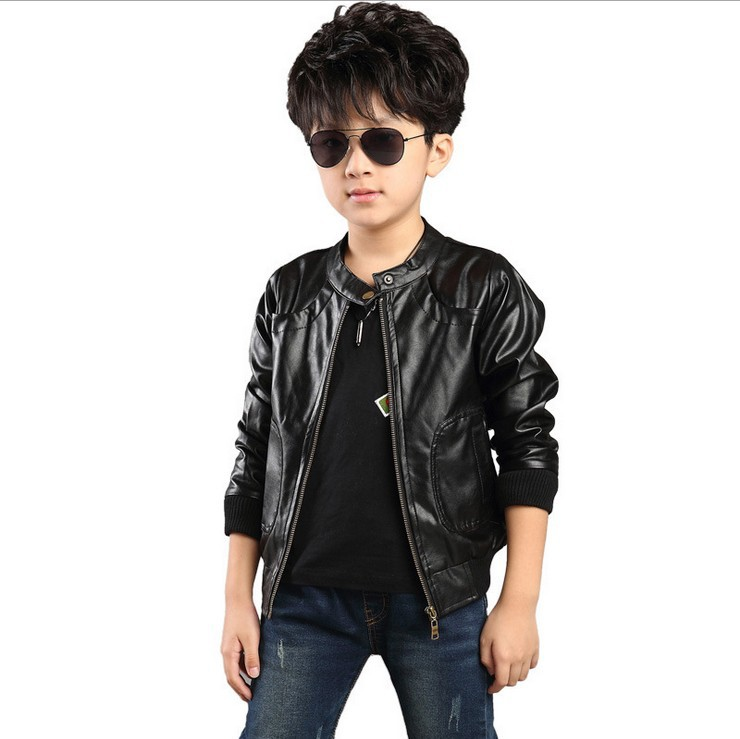 d1adfdf3de15 Older Boys Jacket Clothes Fashion new High grade leather jacket handsome  wild 2014 Outerwear boy coat dress Children Clothing-in Jackets & Coats  from Mother ...