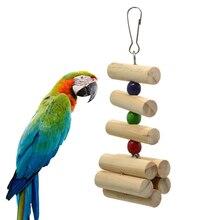 1 pcs Squirrel Hamster Chinchilla Rabbit Molar String Bite Ornaments Log Color Biting Wood Parrot Climb Bird Toys