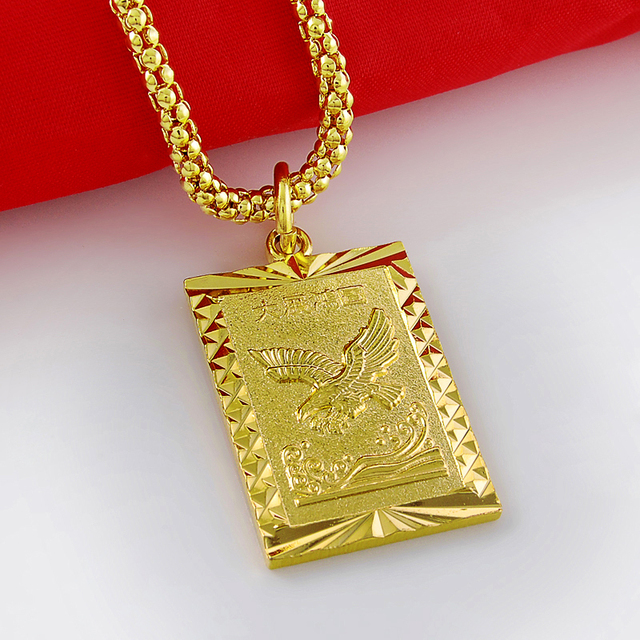 top men series rectangular quality product enamel collier woman hundertwasser plated gold necklace pendant necklaces for name wholesale chains village