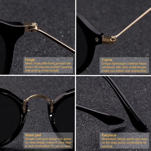 Gafas de sol redondas con revestimiento Retro Para hombre y mujer, anteojos de sol de marca de diseñador, gafas espejadas Vintage, novedad 3