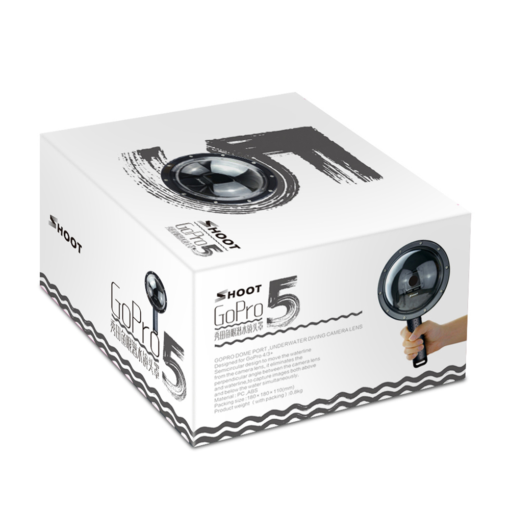 Здесь продается  JMFOTO 6 Inch 40m Waterproof Dome Lens for GoPro Hero 6 5 Black Action Camera Accessories for Go Pro 5 Float Grip Mount and Case  Бытовая электроника