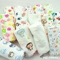 Nova chegada 50*180 centímetros de impressão dos desenhos animados do bebê do algodão de malha jersey tecido elástico por meio metro diy roupa do bebê fazendo tecido
