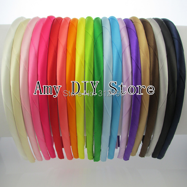 Free Shipping 40pcs/lot 100% handmade satin ribbon covered hs