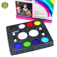 8 Colors Face Painting Kits Christmas Parties Makeup Non Toxic Paint 8 Vibrant Colors with Brushes For Kids Face Make up